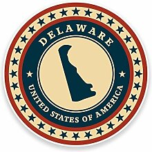 2 x 25cm/250mm Delaware USA Fenster kleben
