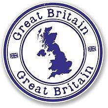 2 x 25cm/250mm GB Großbritannien Großbritannien Fenster kleben Aufkleber Auto Van Wohnmobil Glas #4154
