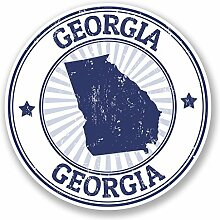 2 x 25cm/250mm Georgia USA Fenster kleben Aufkleber Auto Van Wohnmobil Glas #5849