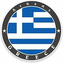 2 x 25cm/250mm Griechenland Athen Flagge Fenster kleben Aufkleber Auto Van Wohnmobil Glas #9512