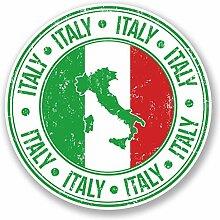 2 x 25cm/250mm Italien Flagge Fenster kleben Aufkleber Auto Van Wohnmobil Glas #5550