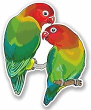 2 x 25cm/250mm Liebe Vögel Fenster kleben Aufkleber Auto Van Wohnmobil Glas #5036