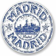 2 x 25cm/250mm Madrid Spanien Fenster kleben