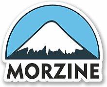 2 x 25cm/250mm Morzine Snowboard Fenster kleben Aufkleber Auto Van Wohnmobil Glas #5139