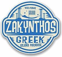 2 x 25cm/250mm Zakynthos Rhodos Griechenland Fenster kleben Aufkleber Auto Van Wohnmobil Glas #9830