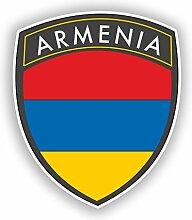 2x 30cm/300mm Armenien Flagge Design Vinyl Aufkleber Reise Gepäck # 10616