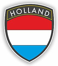 2x 30cm/300mm Holland Flagge Design Vinyl Aufkleber Reise Gepäck # 10618