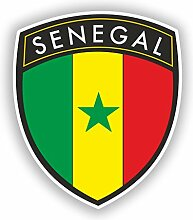 2x 30cm/300mm Senegal Flagge Design Vinyl Aufkleber Reise Gepäck # 10634