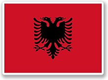 2 x 30cm/300mm Albanien Flagge Fenster kleben