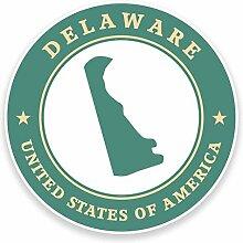 2 x 30cm/300mm Delaware USA Fenster kleben Aufkleber Auto Van Wohnmobil Glas #9349