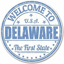 2 x 30cm/300mm Delaware USA Fenster kleben Aufkleber Auto Van Wohnmobil Glas #6126