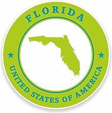 2 x 30cm/300mm Florida USA Fenster kleben Aufkleber Auto Van Wohnmobil Glas #9338