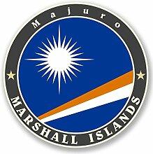 2 x 30cm/300mm Marshall Inseln Fenster kleben