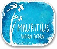 2 x 30cm/300mm MauritiusVinyl SELBSTKLEBENDE STICKER Aufkleber Laptop reisen Gepäckwagen iPad Zeichen Spaß #9676