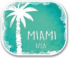 2 x 30cm/300mm Miami USA Fenster kleben Aufkleber Auto Van Wohnmobil Glas #6347