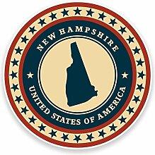 2 x 30cm/300mm New Hampshire USA Fenster kleben Aufkleber Auto Van Wohnmobil Glas #9429