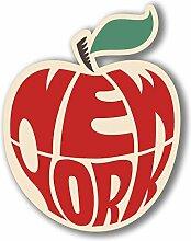 2 x 30cm/300mm New York Big Apple Vinyl SELBSTKLEBENDE STICKER Aufkleber Laptop reisen Gepäckwagen iPad Zeichen Spaß #4071