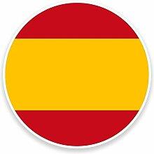 2 x 30cm/300mm Spanische Flagge Fenster kleben Aufkleber Auto Van Wohnmobil Glas #9101