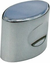 2 x 35 mm/Oval, aus Pu-Leder, Im gun Metall hochglanzpoliert Swish Griffe.