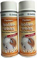 2 x 400 ml Jaeger Flecken Isolierspray Weis 800 ml