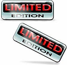 2 x Aufkleber 3D Gel Silikon Stickers Limited
