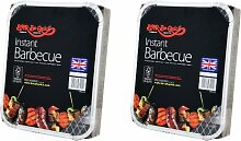 2 X Bar-Be-Quick-Schnell Grill-Packs Jede Packung