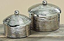 2 x Deko Dosen mit Deckel Ties aus Aluminium Vorratsdose Geschenkidee
