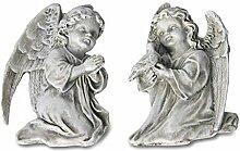 2 x Engel flach m. Draht Höhe 11 cm, Grab, Grabdeko, Angel, Beerdigung, Gartendeko