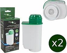 2 x FilterLogic CFL-901B - Wasserfilter ersetzen BRITA INTENZA Nr. TCZ7003 - TCZ7033 - TZ70003 - 575491 - 467873 Filterkartusche für Bosch / Siemens / Neff / Gaggenau Kaffeemaschine Kaffeevollautoma