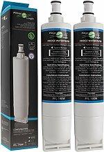 2 x FilterLogic FFL-190W Wasserfilter ersetzen Bauknecht / Whirlpool SBS002, USC009, 4396508, SBS001, SBS003, 481281729632, 461950271171, 481281728986 u.a. Kühlschrankfilter