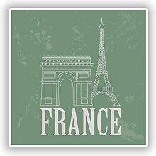 2x Frankreich Vinyl Aufkleber Reise Gepäck #