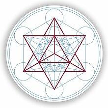 2x geometrischem Design Vinyl Aufkleber Reise