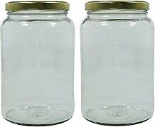 2 x grosses Einmachglas 1,7 Liter mit