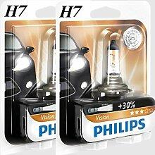 2 x H7 Philips Vision 30% mehr Licht Halogen
