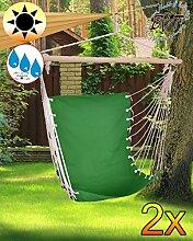 2 x Hängesessel Hängesitz-Liegesessel, stabile Gartenliege, klappbare Sonnenliege -blau dunkelblau-Naturholz Saunaliege, tragbar, Strandliege, hochwertig bequem und stabil, Sonnenschutz, Dreibeinliege faltbar, verstellbare Klappliege, anthrazit-metallic silber, Strandliegen, Sonnenliegen, Liegestühle, Gartenstühle, Picknickliegen, Gartenmöbel Holz, Feldbetten