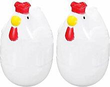 2 x Huhn Form Eier Kochen Kunststoff Eierkocher