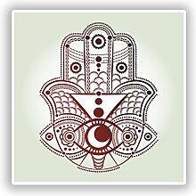 2x indischen Muster Vinyl Aufkleber Reise