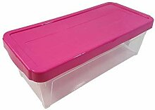 2x Leicht stapelbar Langlebig Cerise Pink 9L DVD