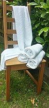 2 x Luft Wafel Badetuch 65cm x165cm Air Wafer weave design Weiß Sauna Hotel Sport Spa Badetuch Minirock (2 x WW 65x165)