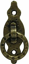2 x Möbelgriff Möbelknopf Möbelgriffe Möbelknöpfe Möbel Griff Messing brüniert antik Ring