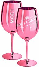2 x Moet & Chandon Champagnerglas Pink (Limited