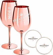2 x Moet & Chandon Champagnerglas Rose-Gold