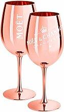 2 x Moet & Chandon Champagnerglas Rose-Gold