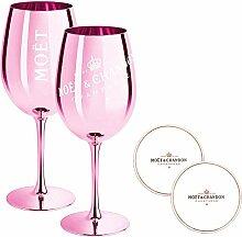 2 x Moet & Chandon Champagnerglas Rose (Limited