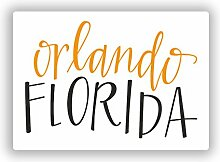 2x Orlando Florida Vinyl Aufkleber Reise Gepäck
