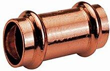 2 x Pressfitting Kupfer Muffe #5270 V Contur (54 mm)