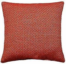 "2 x rot creme modern Mosaik luxuriös dickes cheniile Kissenbezüge 17 "" - 43cm"