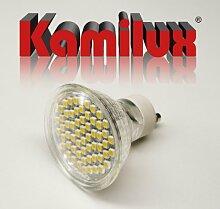 2 x SMD LED Leuchtmittel 60er LED-Strahler 3W Tageslichtweiss 230V mit Schutzscheibe