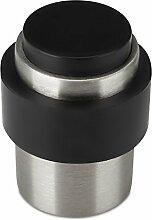 2 x SO-TECH® Türstopper DUST Edelstahl gebürstet Ø 35 mm Höhe 45 mm für Boden- u. Wandmontage