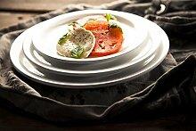 2 x Suppenteller, Pastateller, Melamin, weiß, Ø